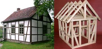 Modellbau quedlinburg baus tze und modelle historischer for Fachwerkhaus aufbau